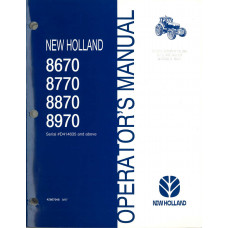 New Holland 8870 Tractor Operator's Manual (D414635 & UP)