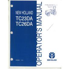 New Holland TC23DA Tractor Operator's Manual