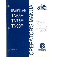 New Holland TN65F Tractor Operator's Manual