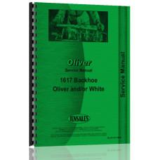 Oliver 1650 Backhoe Attachment Service Manual (Attachment)