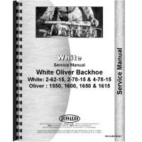 White 2-62-15 Backhoe Attachment Service Manual