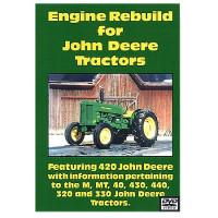 John Deere M, MT, 40, 320, 330, 420, 430 and 440 Engine Rebuild DVD (JD-DVD-420ENG)