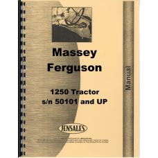 Massey Ferguson 1250 Tractor Parts Manual (s/n 50101 and UP)