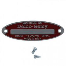 International Blank Starter / Generator Tag For 12 Volt Delco Remy