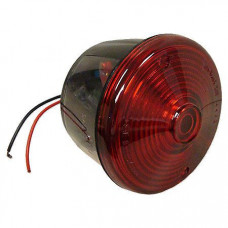 Farmall 12 Volt Round Red Tail Light Assembly With License Lamp Window