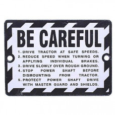 John Deere Be Careful Plate (JDS312)