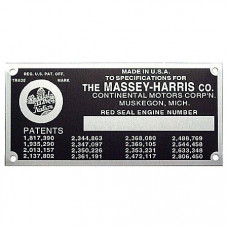 Massey Ferguson Engine Serial Number Tag With Rivets (MHS062)