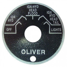 Oliver Ignition Switch Plate (OLS111)