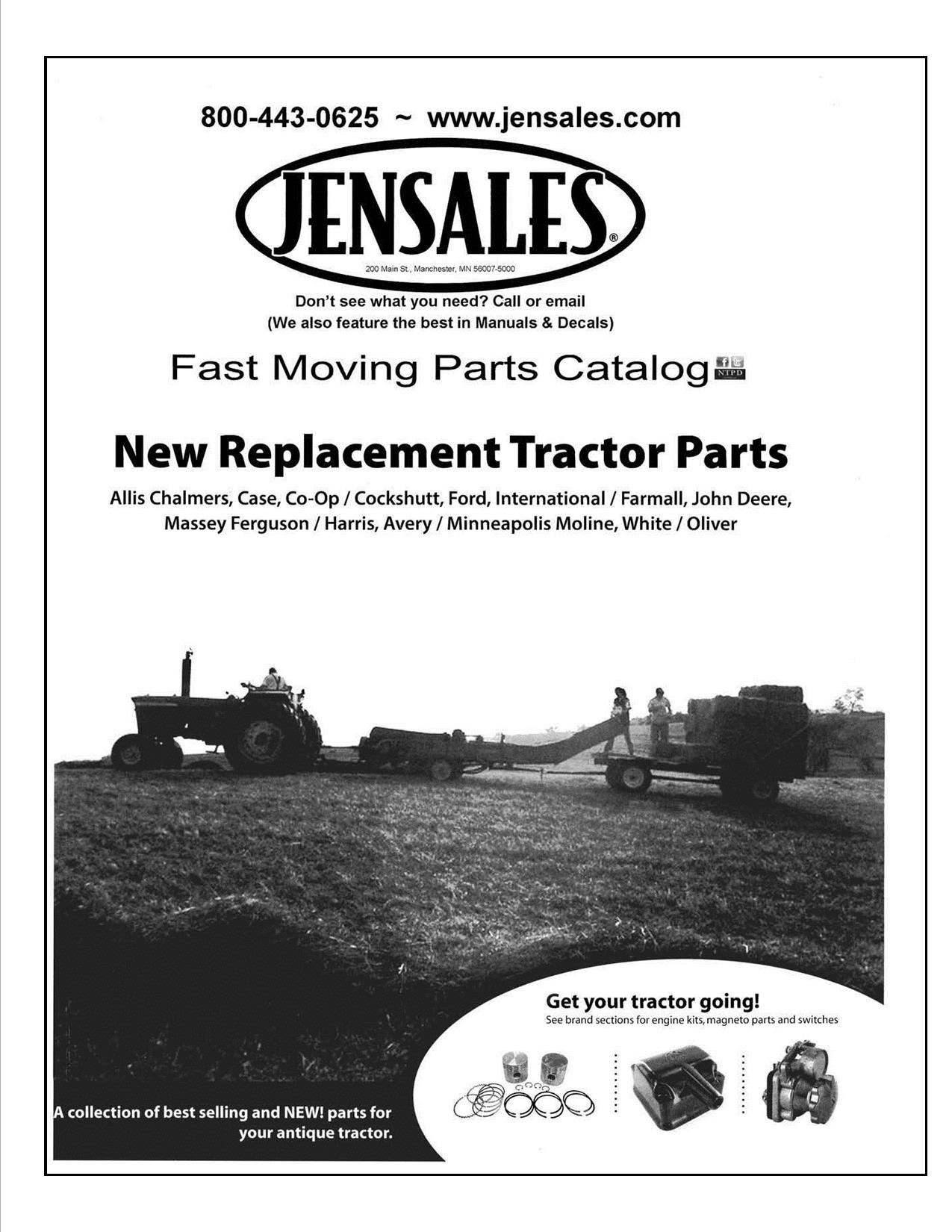 They are supplemental catalogs of Parts not yet available on our website,  but are available if you call in and place your order.