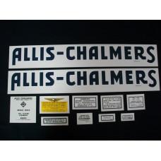 Allis Chalmers RC blue Mylar Cut Decal Set