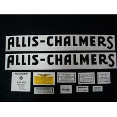 Allis Chalmers RC black Mylar Cut Decal Set
