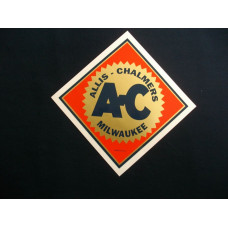 Allis Chalmers 2 1/2 inch orange background Mylar Decal Set