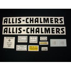 Allis Chalmers IB black even letters Mylar Cut Decal Set
