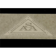 ASA Tractor safety decal (silver) Vinyl Cut Decal (GX303E)