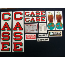 Case 12-20 red fender decal Mylar Decal Set