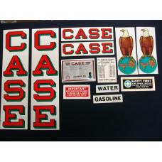 Case 15-27 red fender decal Mylar Decal Set