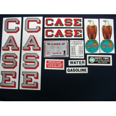 Case 18-32 silver fender decal Mylar Decal Set