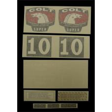 Colt Super (1964 & 1965) Vinyl Cut Decal Set (GC345S )