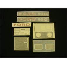 Ford 100 blue hydro Vinyl Cut Decal Set (GF311S )