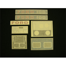 Ford 100 blue manual + P.T.O. Vinyl Cut Decal Set (GF317S )