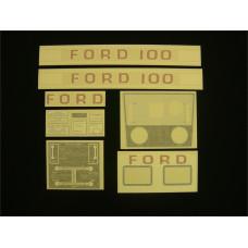 Ford 100 white manual + P.T.O. Vinyl Cut Decal Set (GF308S )