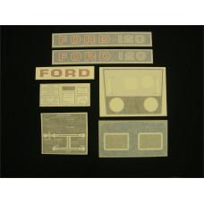 Ford 120 blue manual Vinyl Cut Decal Set (GF315S )