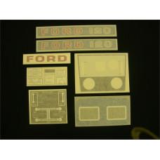 Ford 120 blue manual + P.T.O. Vinyl Cut Decal Set (GF318S )