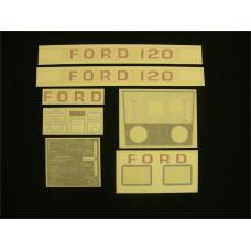 Ford 120 white hydro Vinyl Cut Decal Set (GF302S )