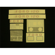 Ford 120 white manual Vinyl Cut Decal Set (GF306S )