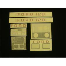 Ford 120 white manual + P.T.O. Vinyl Cut Decal Set (GF309S )