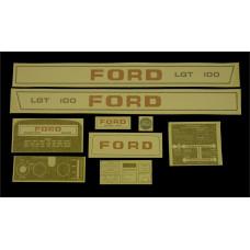 Ford LGT 120 manual + P.T.O. Vinyl Cut Decal Set (GF324S )