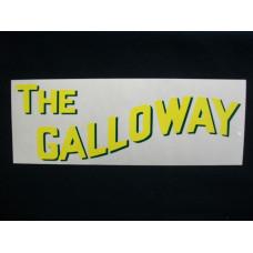 Galloway Engine Galloway (block 10 ½ inch) Mylar Cut Decals (G102)