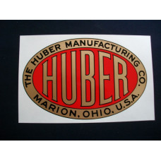 Huber Tractor (oval) each Mylar Cut Decal (H100)