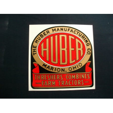 Huber Tractor (with ribbon) each Mylar Cut Decal (H101)
