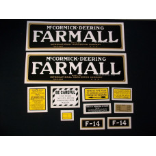 Farmall F-14 Mylar Cut Decal Set (I104)