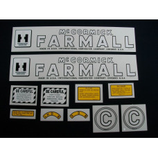 Farmall C Mylar Cut Decal Set (I129)