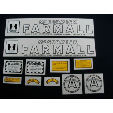 Farmall A Cultivision Mylar Cut Decal Set (I133)