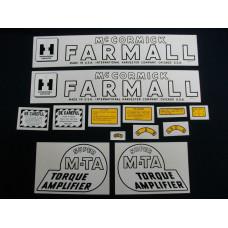 Farmall Super MTA Mylar Cut Decal Set (I150)