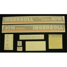 Ingersoll 3016 hydriv Vinyl Cut Decal Set (GI320S )