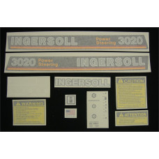 Ingersoll 3020 Power Steering Vinyl Cut Decal Set (GI332S )