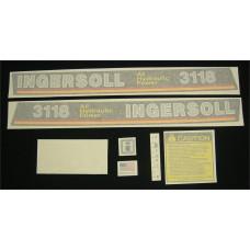 Ingersoll 3118 All Hydraulic Power Vinyl Cut Decal Set (GI340S )