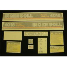 Ingersoll 4016 Power Steering Vinyl Cut Decal Set (GI333S )