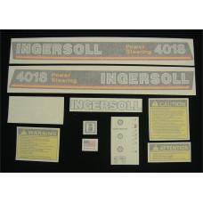 Ingersoll 4018 Power Steering Vinyl Cut Decal Set (GI334S )