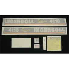 Ingersoll 4118 All Hydraulic Power Vinyl Cut Decal Set (GI342S )
