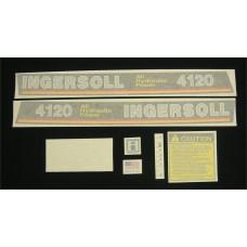 Ingersoll 4120 All Hydraulic Power Vinyl Cut Decal Set (GI343S )