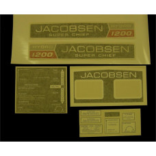 Jacobsen Super Chief 1200 Hydro Vinyl Cut Decal Set (GJ301S )