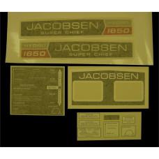 Jacobsen Super Chief 1650 Hydro Vinyl Cut Decal Set (GJ303S )