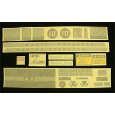 Massey Ferguson 10 Vinyl Cut Decal Set (GMF301S )