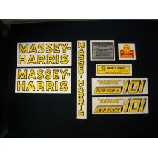 Massey Harris 101 Senior Twin Power Mylar Cut Decal Set