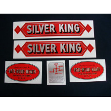 Silver King Silver King (red) Mylar Cut Decal Set (S100)